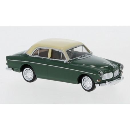 Brekina 29228 Volvo Amazon, mörkgrön|beige, 4-dörrar, 1956
