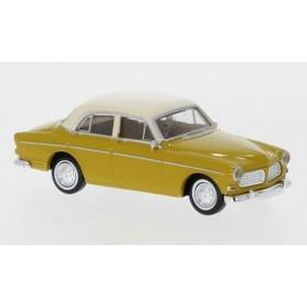 Brekina 29229 Volvo Amazon, mörkgul|ljusbeige, 4-dörrar, 1956