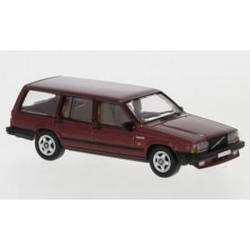 Brekina 870113 Volvo 740 Kombi, metallic-mörkröd, 1985, PCX