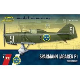 Ardpol 72056 Flygplan Sparmann Jägare, med huv, med svenska dekaler