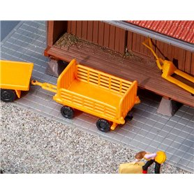Faller 180991 2 Baggage trolleys, orange