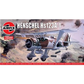 "Airfix 02051V Flygplan Henschel Hs123A-1 ""Vintage Classics"""