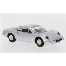 Brekina 870219 Ferrari Dino 246 GT, silver, 1969, PCX