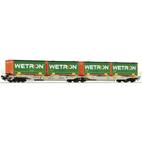 "Roco 67401 Dubbelvagn T2000 Sdggmrs typ AAE ""Wetron"""