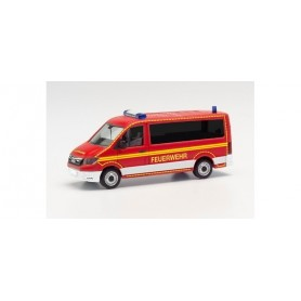 Herpa 096225 MAN TGE Bus low roof crew transport vehicle fire department