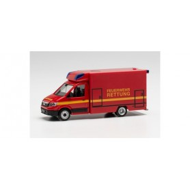 Herpa 096232 MAN TGE Fahrtec ambulance fire department