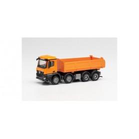 Herpa 313599 Mercedes-Benz Arocs S 4-axle Meiller dump truck, municipal orange