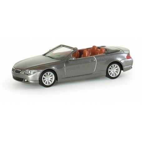 Herpa 033244 BMW 6er convertible, metallic