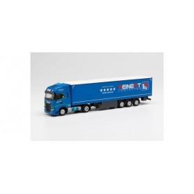 "Herpa 313889 Iveco S-Way LNG curtain semitrailer ""Reinert Logistics"""