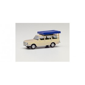 Herpa 420549-002 Wartburg 353 `66 Tourist with Roof tent, pearl white