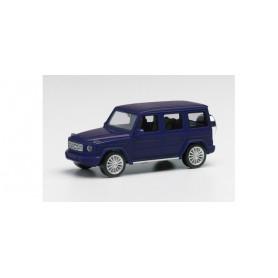 Herpa 430760-002 Mercedes-Benz G-Klasse with AMG rims, canvasit blue metallic