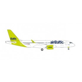 """Herpa Wings 535328 Flygplan airBaltic Airbus A220-300 - new livery """"100th A220"""" – YL-AAU"""