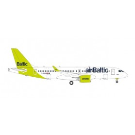 """Herpa Wings 562751 Flygplan airBaltic Airbus A220-300 - new livery """"100th A220"""" – YL-AAU"""