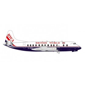 Herpa Wings 571463 Flygplan British World Airlines Vickers Viscount 800 - 25th anniversary last Viscount passenger flight – G...