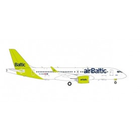 """Herpa Wings 571487 Flygplan airBaltic Airbus A220-300 - new livery """"100th A220"""" – YL-AAU"""