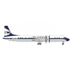 Herpa Wings 571531 Flygplan Malév Hungarian Airlines Ilyushin IL-18 (late colors) – HA-MOF