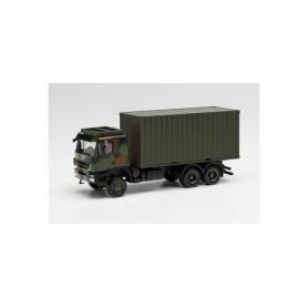 "Herpa 746793 Trakker 6x6 with 20 ft. Container camouflage design ""Bundeswehr"""