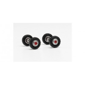 Herpa 87MBS026109 Wheel set off-road tires 11.00 x 20 with steel rims for the front axle (content. 2 axles)