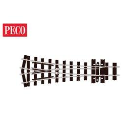 Peco SL-E497 Y-Växel, medium, radie 457 mm, vinkel 22,5°, längd 111 mm