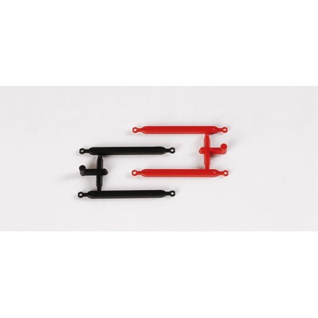 Herpa 052191 Tow bar (6 pices red, 6 pieces black)