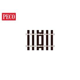 Peco SL-113 Övergångsskena Code 100 till Code 75, 4 st