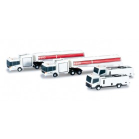 Herpa Wings 520850 Airport accessories tank and lavatory truck set Content. 4 pieces