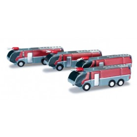 Herpa Wings 520867 Airport accessories fire engine set Content. 4 pieces