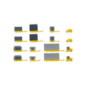 Herpa Wings 520638 Airport accessories. container trailers new (2x 2 rigid tractors, 2x 6 container)