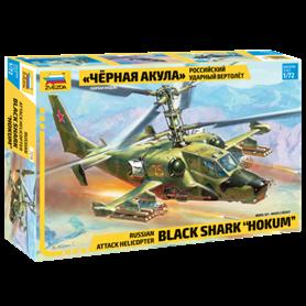 "Zvezda 7216 Russian attack helicopter Black Shark ""Hocum"""