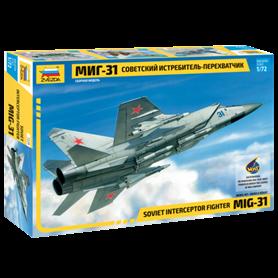Zvezda 7229 Flygplan Soviet interceptor fighter MiG-31