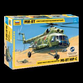 Zvezda 7230 Helikopter Soviet multi-role helicopter MI-8T HIP-C