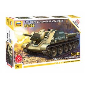 "Zvezda 5043 Tanks Soviet self-propelled gun SU-122 ""Snap Fit"""