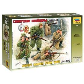 Zvezda 3597 Figurer Soviet sniper team WWII 1941-1943