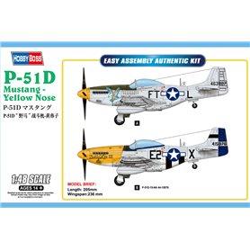 Hobby Boss 85808 Flygplan P-51D Mustang - Yellow Nose
