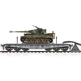 Hobby Boss 82934 Schwere Plattformwagen Type SSyms 80&Pz.Kpfw.VI Ausf.E Sd.Kfz.181 Tiger I (Mid Production)