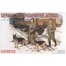 Dragon 6098 Figurer German Feldenarmerie with dogs