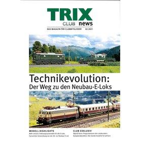 Trix CLUB022021T Trix Club 02/2021, magasin från Trix, 23 sidor i färg, Tyska