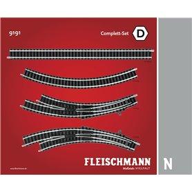"""Fleischmann 9191 Utbyggnadsset """"Complete Set"""""""