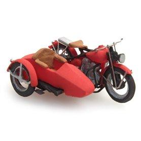 Artitec 38729 Motorcykel med sidovagn US Liberator, röd