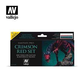 "Vallejo 74103 Paint Set ""Crimson Red"""