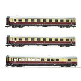 "Roco 74073 Vagnsset med 3 personvagnar TEE 74/75 ""Roland"" Set 2"