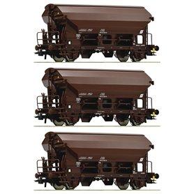 Roco 76180 3 piece set swing roof wagons, ÖBB