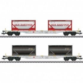 Märklin 47137 Type Sgns Container Transport Car Set