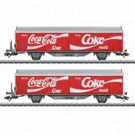 Märklin 48344 Type Hbils-vy Sliding Wall Boxcar Set