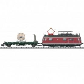 Trix 16992 Powered Catenary Maintenance Rail Car with a Catenary Construction Car