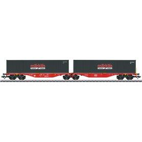 """Märklin 47812 Dubbel containervagn Sggrss 80 DB AG """"Märklin"""""""