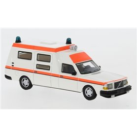 BOS 87716 Volvo 265 Ambulance, vit/orange, 1985