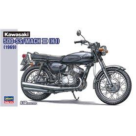 Hasegawa 21510 Motorcykel Kawasaki 500-SS/MACH III (H1)