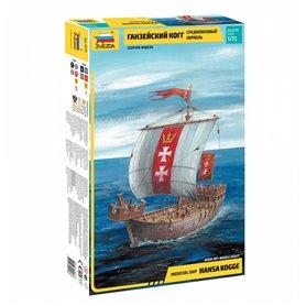 Zvezda 9018 Medieval ship Hansa Kogge