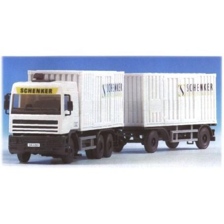 """Kibri 11086 DAF Bil & Släp Container """"Schenker"""""""
